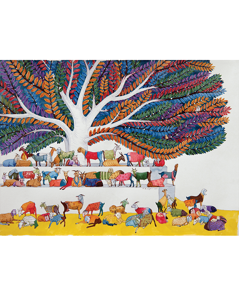 Lal-Bahadur-Singh-LBS-0127-Untitled-22-x-30-inches-Watercolour-on-paper-2019