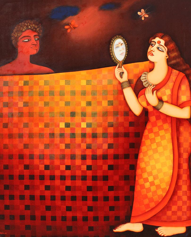 Shipra-Bhattacharya-SPRBH-0001-Desire-I-72-x-60-inches-Oil-on-canvas-2006