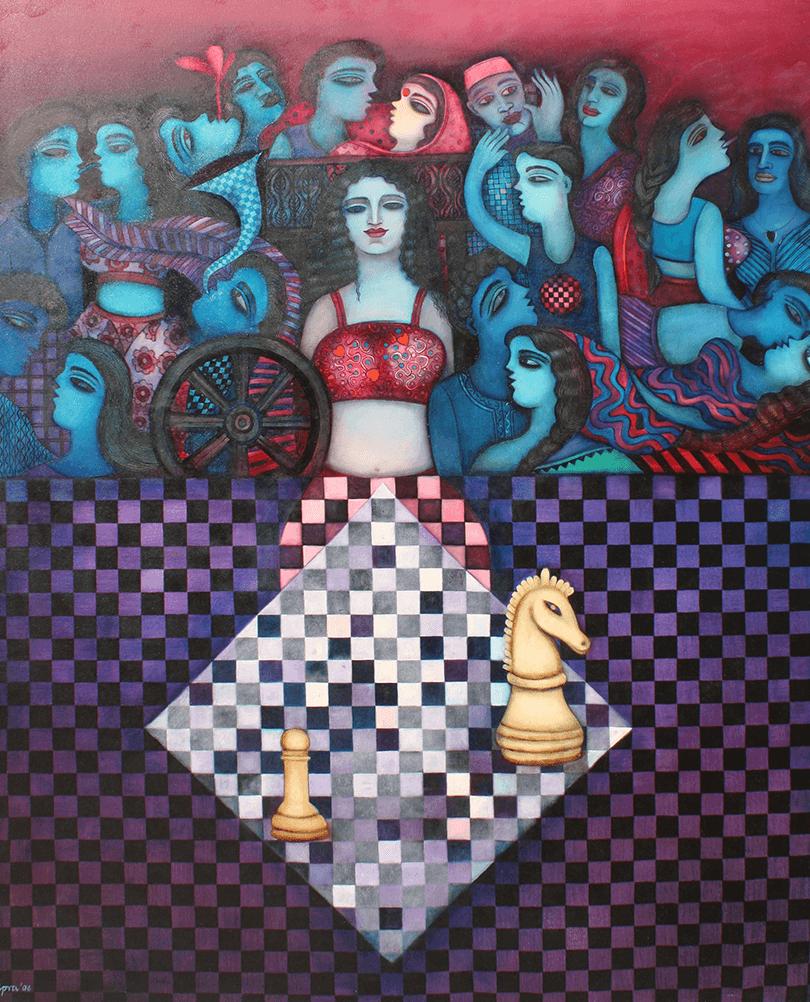 Shipra-Bhattacharya-SPRBH-0002-Desire-II-72-x-60-inches-Oil-on-canvas-2006