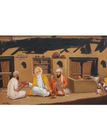 Baba Guru Nanak Dev Ji  in Carpenter Lalo's House